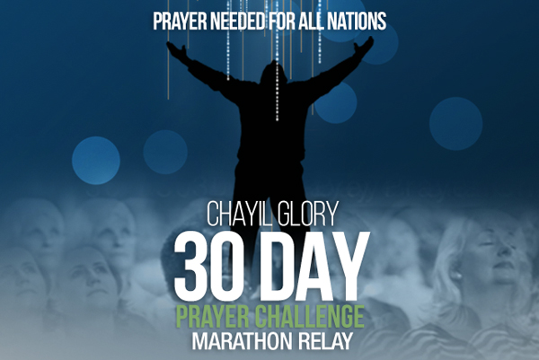 CHAYIL Glory 30 Day Prayer Challenge Marathon Relay